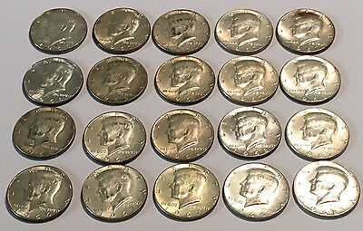40% Silver Kennedy Half Dollars $10 Face Value 1965-69