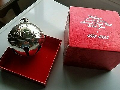 1995 Vintage Collectible Wallace Silverplate Limited Edition Annual Sleigh Bell