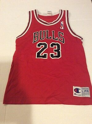 iyjhld NBA Red Champion Jersey Size 36 Michael Jordan Chicago Bulls