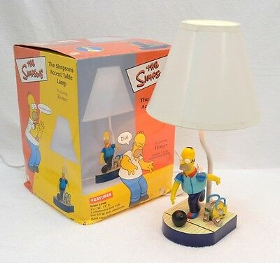 The SIMPSONS Accent Table Lamp HOMER SIMPSON Bowling Beer Pin Pals SIMP21 2002