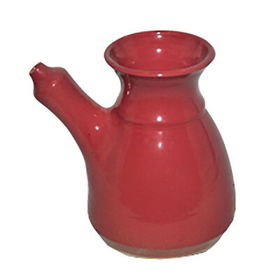 New Australian Handmade Stoneware Neti Pot Red