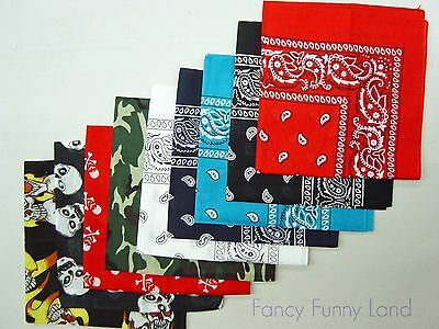Cotton Head Wrap Scarf Bandana Paisley Biker Scarf Summer Headwrap Mask New