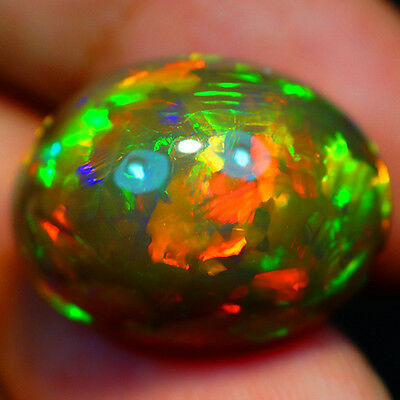 20.94 Ct Gia Certified !! One Of A Kind Natural Ethiopian Semi Black Opal