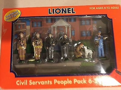 Lionel 6-24194 Civil Servants People Pack 6 Hand Painted Pewter Pieces MIB