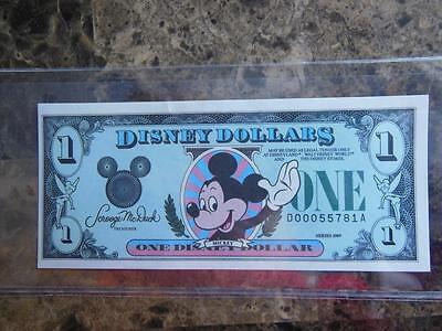 1989 D $ Disney Dollars  Mickey Mouse High Grade uncircularted in mint cond.