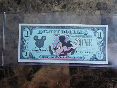 1990 D $ Disney Dollars  Mickey Mouse High Grade uncircularted in mint cond.