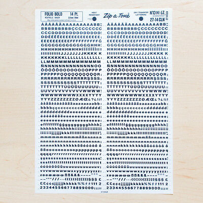 1 Sheet FOLIO 14pt Bold Letraset L166 Rub on Letters Dry Transfers Typograpfie
