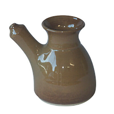 New Australian Handmade Stoneware Neti Pot Coffee