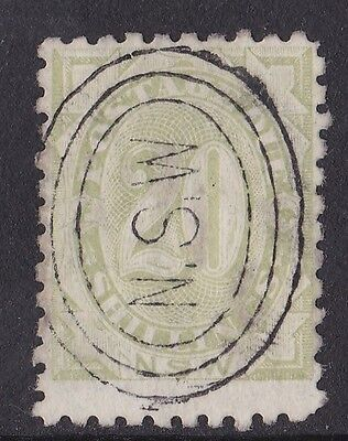 DB120) NSW 1891 20/- Green Postage Due, SG D10