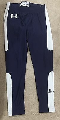 Boys Under Armour Coldgear Navy Compression Base Layer Leggins Youth X-Large YXL