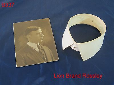 Vintage Antique Lion Brand Mens Detachable Shirt Collar Clothing Victorian Era