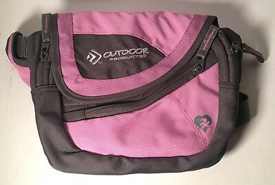 Outdoor Products Water-resistant Travel Waist Bag Fanny Pack Pink And Black
