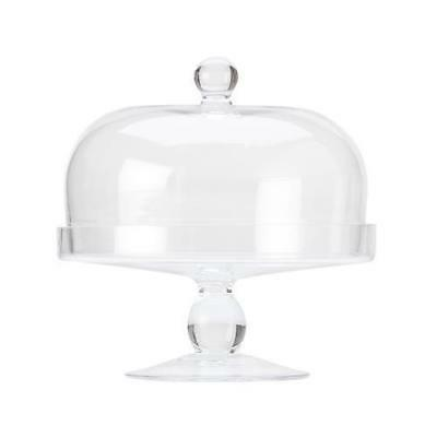 Glass Cake Stand with Dome Lid 20cm Maxwell & Williams 'Diamante' Cupcakes NEW