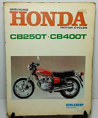 HONDA MOTOR CYCLE - CB250T - CB400T Service Repair Workshop Manual CYCLESERVE