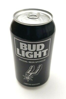 2016 Bud Light NBA San Antonio Spurs Beer Can Limited Edition 1 Can Black EMPTY