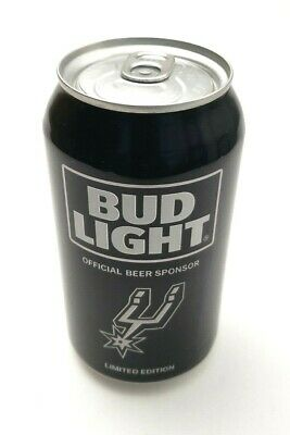 San Antonio Spurs NBA Bud Light Beer Can Limited Edition 1 Can Black EMPTY