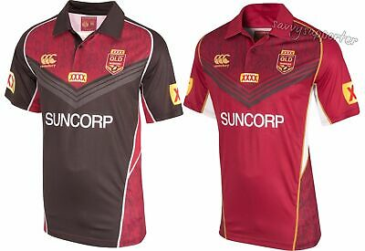 Queensland Origin 2017 Maroon / Black Training Polo Shirt All Sizes State of QLD