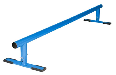 """X Factor Driveway Skatepark Grind Rail 54"""" Adustable 3 Different Height, Blue"""