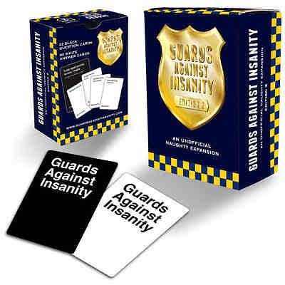 Cards Against Humanity:Guards Against Insanity Naughty Expansion Edition 2 NEW!