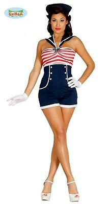 Costume Travestimento Vestito Carnevale Donna Marinaretta Sailor Navy Sexy