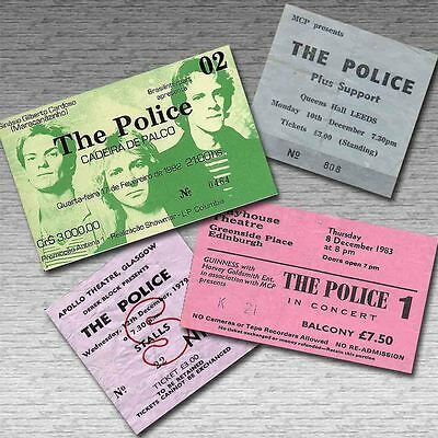 THE POLICE Magnetic Retro Concert Ticket Set!