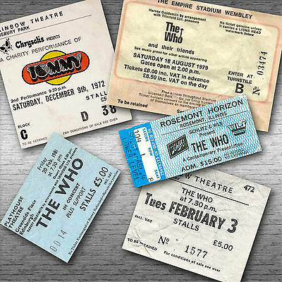 THE WHO Magnetic Retro Concert Ticket Set!