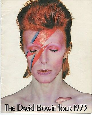 David Bowie 1973 Ziggy Tour programme guide book + fan club form not signed