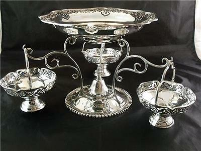 Silver Plate 4 Basket Epergne