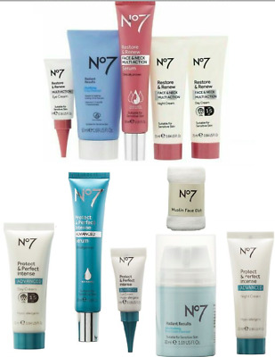 Brand New No7 Day & Night & Eye Creams, Serums, Cleansers, muslin Face Cloths