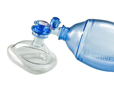 Manual Resuscitator 550ml PVC Child Ambu Bag + Oxygen Tube CPR First Aid kit