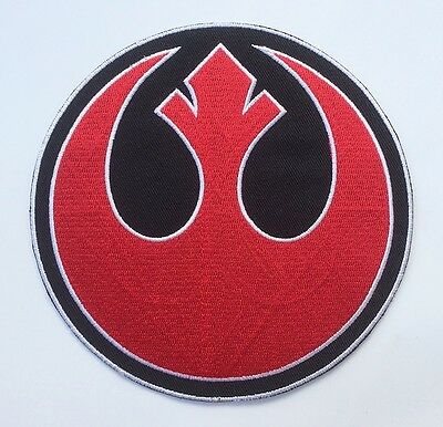 "Large 8"" Rebel Alliance Star Wars Embroidered Iron on / Sew on Patch Pick Color"