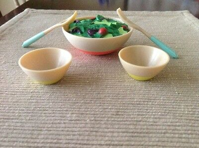 "18"" doll salad bowl set dinner food NEW Fits American Girl Our Generation"