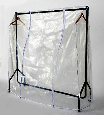 Clear Zipped Clothes Rail Cover 3ft x 5ft Hanging Garment Storage Display