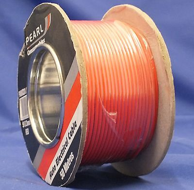 RED CABLE AUTO WIRE 50M REEL 9/0.3 SINGLE 5.75A 0.65mm sq AUTOMOTIVE