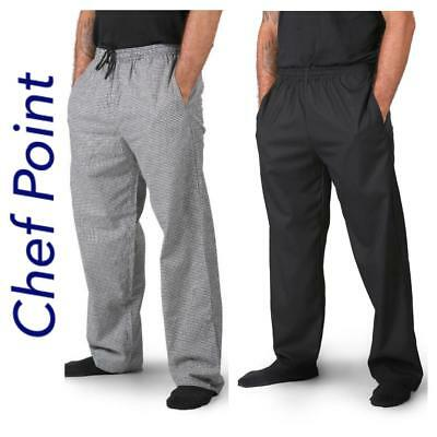 2 Pk Chef 'lightweight' Drawstring Pants, Check Pattern, Breathable Pockets!