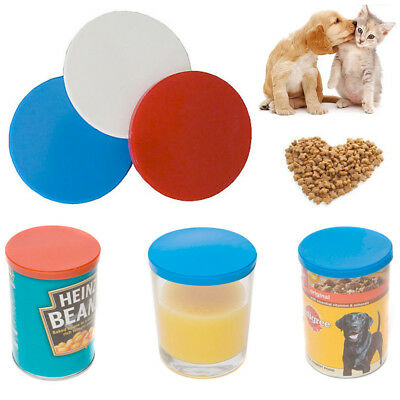 3 Can Tin Cover Reusable Lid Jar Caps Plastic Pet Food Cap Covers Kitchen Fresh