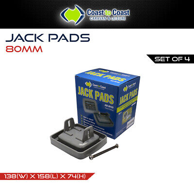 Coast Jack Pads (Set of 4) for Caravan Stabilizer Legs / Foot Plate / Level Feet