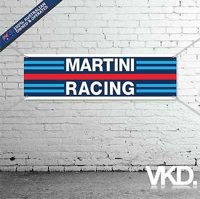 Martini Racing Banner - Man Cave Work Shop Garage Shed Race Porsche