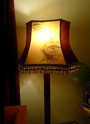 Solid Wood Edwardian Standard Floor Lamp with Shade