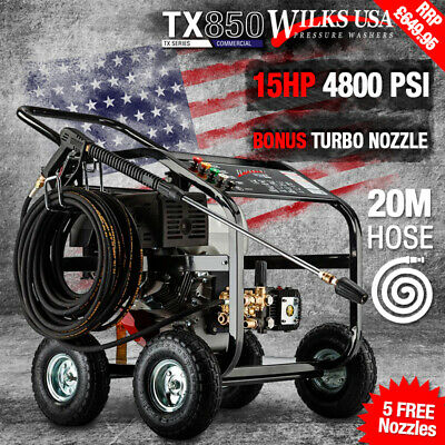"Petrol Pressure Washer 15hp, ""Honda Copy Motor"" Wilks-USA TX850 AWESOME POWER"