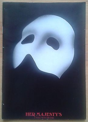 The Phantom of the Opera programme her Majesty's Theatre Mar 1989 Dave Willetts