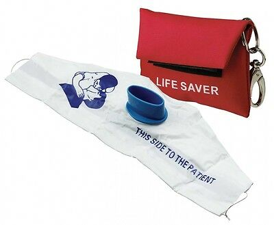 Red CPR Mask + Key Chain Pouch + Gloves Sealed EMT IFAK First Aid Kit Emergency