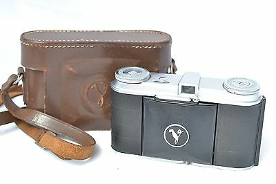 Vintage 1940s Voigtlander Vito 35mm Folding Film Camera Skopar 50mm F3.5 + Case
