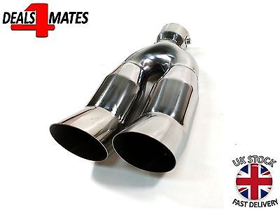 Sport Dual Twin Exhaust Muffler Pipe Tail Tip Chrome For Bmw E30 E32 E34 E36 E46