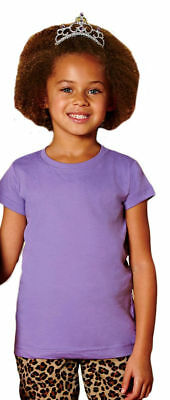 Rabbit Skins Toddler Fine Jersey Cotton Top Stitched Ribbed Collar T-Shirt. 3316