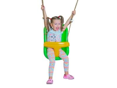 BABY HIGH BACK SWING SEAT**ADJUSTABLE ROPES** for KIDS SWING SET FREE P&P NEW !
