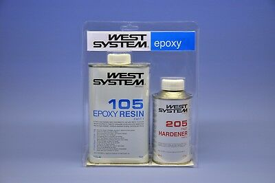 (48,33-54,98€/Kg) West System Epoxy Resin 105- Junior Pack / A-Pack - 205/206