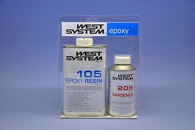 (48,33-56,65€/Kg) West System Epoxy Harz 105- Junior Pack / A-Pack - 205/206