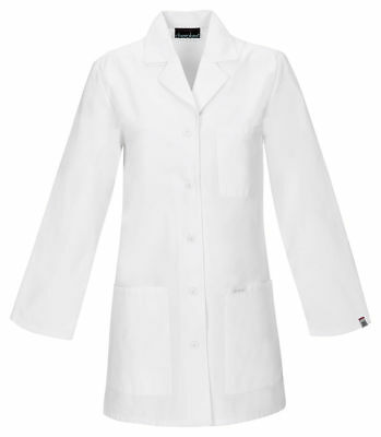 Cherokee Women's New Side Vents Long Sleeve Pocket Stylish Lab Coat. 1462AB