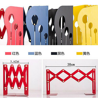 New Retractable Metal Bookends Book Support Holder School Office Supplies Gifts
